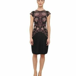 Rachel Roy floral jacquard merino wool dress